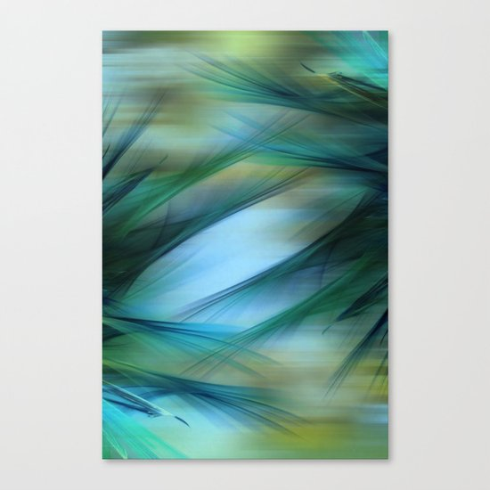 Soft Feathered Lights Abstract Canvas Print
