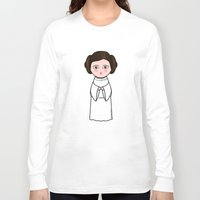 leia Long Sleeve T-shirts featuring Kokeshi Leia  by Pendientera