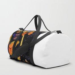 "SHABBY CHIC ""OFF THE WALL"" BUTTERFLIES &  BLACK  ART Duffle Bag"
