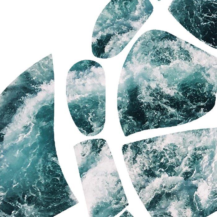Sea Turtle - Turquoise Ocean Waves Leggings