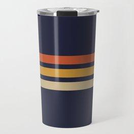 Vintage Retro Stripes Travel Mug
