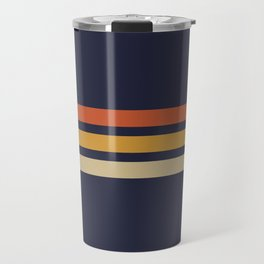 Vintage Retro Stripes Travel Mug
