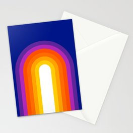 Classic Blue Rainbow Stationery Cards