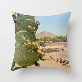 Nopales en Teotihuacan Throw Pillow