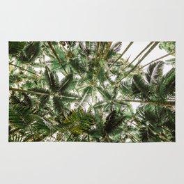 Admist A Jungle Of Palm Trees Rug