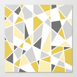 Geometric Pattern in yellow and gray Canvas Print
