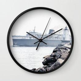 Badger Car Ferry - Ludington Michigan Wall Clock