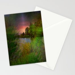 Sunset On The Lagoon Stationery Cards
