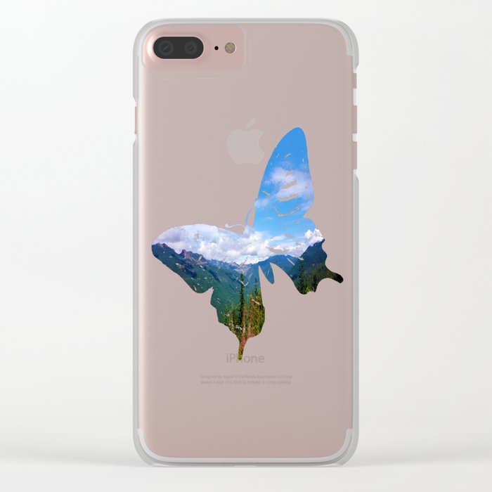 Northern Cascade Sky Clear iPhone Case