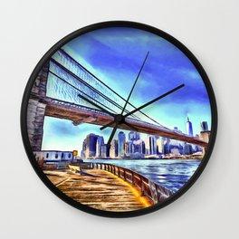 Brooklyn Bridge New York Art Wall Clock