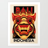 indonesia Art Prints featuring Indonesia - Bali by Rui Ricardo