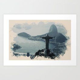 Wonders of the Worlds - Rio, Brazil Art Print