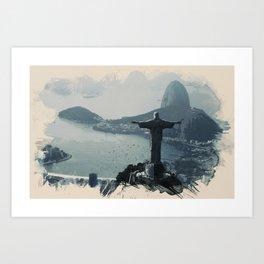 Wonders of the Worlds - Rio, Brazil Art Print
