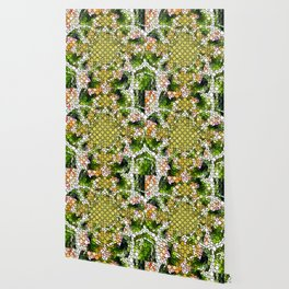 The Colors Of Spring In Tile Art Wallpaper
