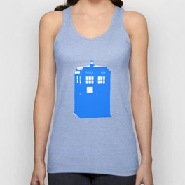 Doctor Who: Stamped Tardis Unisex Tank Top