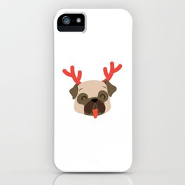 Pugs And Kisses Holiday Best Gift For Christmas iPhone Case