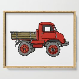 Red truck / transporter Serving Tray