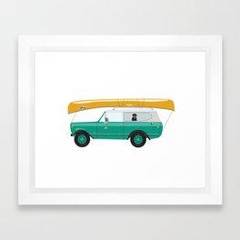 Go Canoeing Framed Art Print