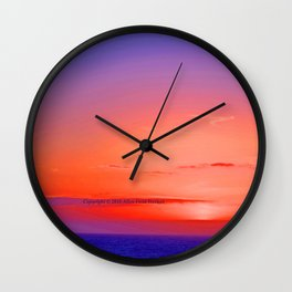 """""""Moonstone Beach Moment"""" with poem: And Counting Wall Clock"""