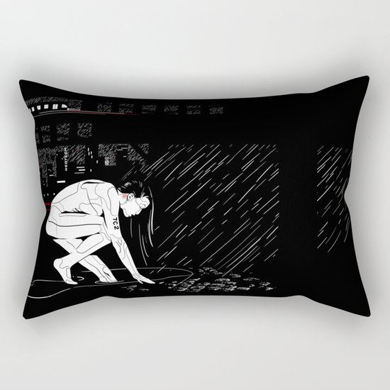 nit:e:scape // android underground Rectangular Pillow