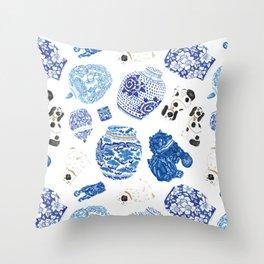 Chinoiserie Curiosity Cabinet Toss 2 Throw Pillow