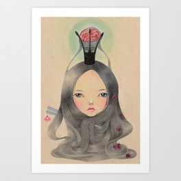 Chew the cud of the memories Art Print