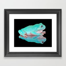 FROG REFLECTIONS Framed Art Print