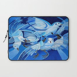 Muge's Pigeons in Blue  Laptop Sleeve