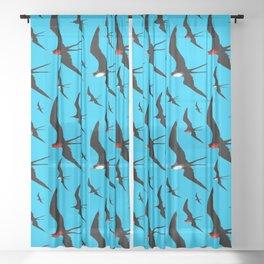 Frigate Birds Majestic Flight Sheer Curtain