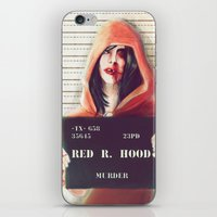 red hood iPhone & iPod Skins featuring Red Riding Hood by adroverart