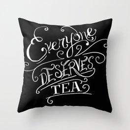 Lizzie Bennet Diaries-Tea Throw Pillow