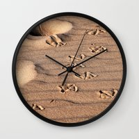 dune Wall Clocks featuring SAND DUNE  by CAPTAINSILVA