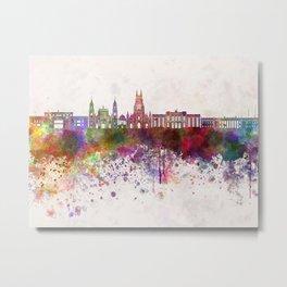 Bogota skyline in watercolor background v2 Metal Print