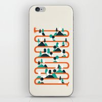 stripes iPhone & iPod Skins featuring Foxy stripes by Robert Farkas