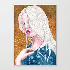 Magnolia, watercolor Canvas Print