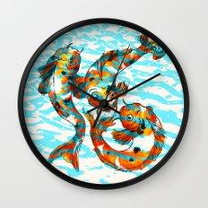 Three Koi Carp Wall Clock
