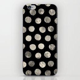 Cream Brushed Polka Dots iPhone Skin