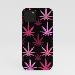 Marijuana Magenta Pink Weed iPhone Case