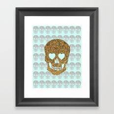 skulls & heartz;; Framed Art Print
