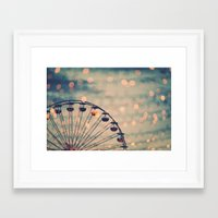 ferris wheel Framed Art Prints featuring Ferris Wheel by Juste Pixx Photography
