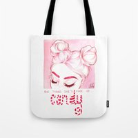 candy Tote Bags featuring Candy  by Laia™
