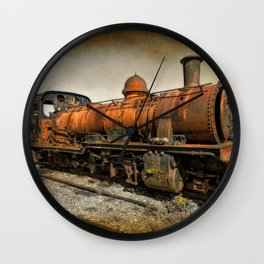 End of the Line Wall Clock