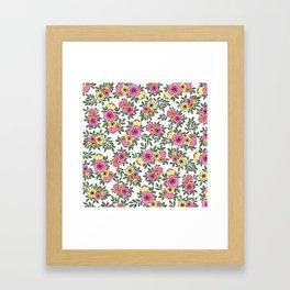 Spring Bunch Watercolor Framed Art Print