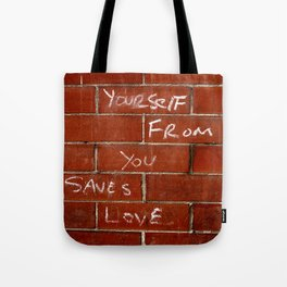 Love Saves Tote Bag