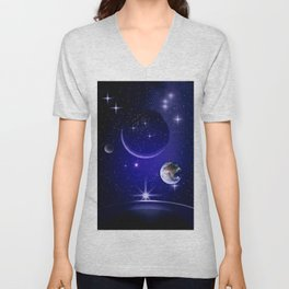 Fantastic yourney into space. Unisex V-Neck