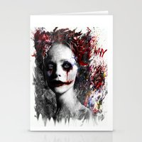 harley quinn Stationery Cards featuring Harley Quinn by ururuty