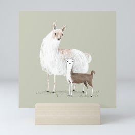 Llama Mama Mini Art Print