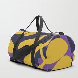 Yellow and purple fern pattern Duffle Bag