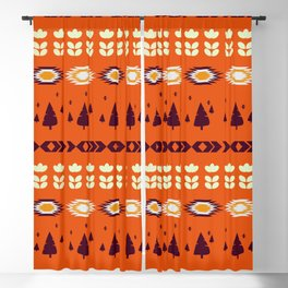 Holiday pattern with Christmas trees Blackout Curtain