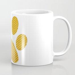 Golden Dog footprint-White Coffee Mug